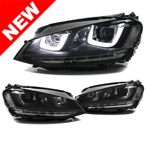 Vw Mk7 Golf gti Helix Projector Headlights W Led Drl Led Turn Signal