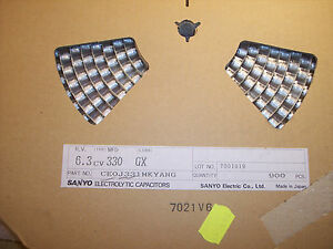 Qty 900 330uf 6 3v 105 Smd Electrolytic 6 3cv330gx Sanyo Ultra Low Impedance