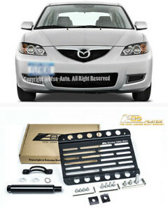 Eos For 04 09 Mazda 3 Speed 3 Front Bumper Tow Hook License Plate Bracket