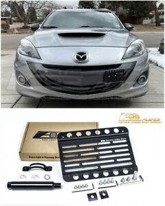 Eos For 10 13 Mazdaspeed 3 Mid Size Front Bumper Tow Hook License Plate Bracket