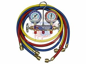 Yellow Jacket 41211 Manifold 2 1 2 Gauges 60 Plus Ii Hoses R22 134a 404a f