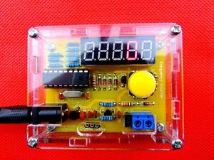 1hz 50mhz Crystal Oscillator Frequency Counter Meter Digital Led Pic Case Diy