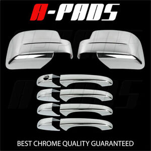 For Jeep Patriot 08 09 10 11 12 Chrome Mirror Cover Door Handle Cover W o Pskh