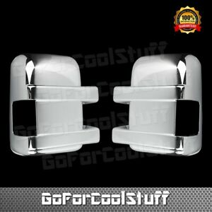 For Ford F 250 350 Super Duty 08 16 Chrome Mirror Cover W Turning Light