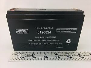 Dual Lite 0120824 Approved 6 volt 7 7 2ah 3 4 amp For 90 minute New Sla Battery