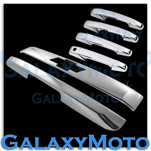 07 14 Chevy Tahoe Suburban Chrome Top Liftgate Lower Tailgate Door Handle Cover