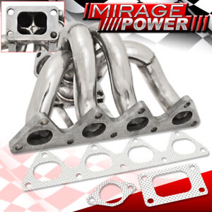 Civic Integra B16 B18 B series T3 Flange Turbo Exhaust Manifold Stainless Steel