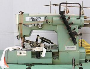 W g 43 02x364 Coverstitch 3 needle 5 thread Binder Industrial Sewing Machine 220