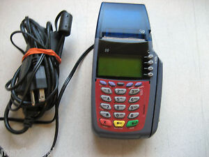 Used Verifone Vx510 Credit Card Terminal Power Supply W warranty
