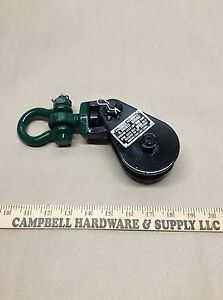 Block 2 Ton W shackle Wire Rope Sheave Tow Shackle Clevis Lifting Crane Pulley