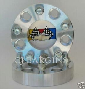 4 Pc 5 X 5 Chevy 1 Inch 1 2 Studs Chevy C10 Wheel Spacers Adapters 5 Lug