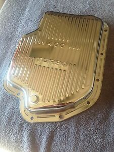 Turbo 400 Gm Chrome Transmission Trans Pan New