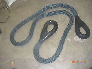 Military Tow Rope 1 5 Nylon 4x4 Recovery Atv Bar Hook Grab Rock Crawler Nice