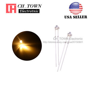 100pcs 1 8mm Transparent Water Clear Warm White Light Led Diodes High Quality