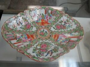 Finely Decorated Chinese Rose Medallion Large Footed Centerpiece Bowl