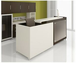 Quad 96 Modern Reception receptionist Office Desk Shell