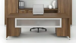 Quad 66 Modern Executive Office Desk With Modesty Panel And Double Pedestal