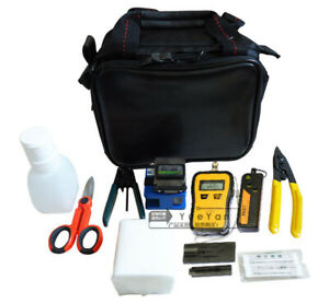 Fiber Optic Ftth Tools Kit Fiber Cleaver Optical Power Meter 10mw Vfl Strippers