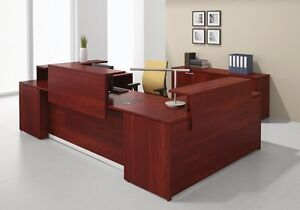Morpheo 156 Modern U shape Reception receptionist Office Desk Shell Credenza