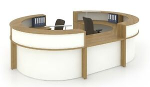 Morpheo 252 Modern Curve Reception receptionist Office Desk With Countertop