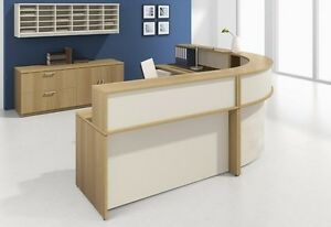 Morpheo 198 Modern Curve Reception receptionist Office Desk Shell With Counter