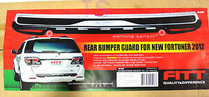 Fit Toyota Fortuner Parking Sensor Suv 2012 13 14 Black Rear Tail Bumper Guard