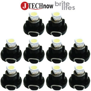 Jtech 10 X T3 Neo Wedge White Car Instrument Cluster Panel Lamps Gauge Led Bulbs
