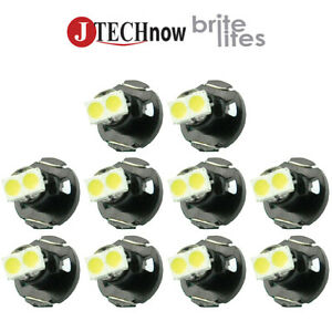 Jtech10 X T4 2 Neo Wedge White Car Instrument Cluster Panel Lamps Gauge Led Bulb
