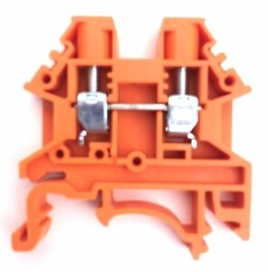 Din Rail Terminal Blocks 100 Quantity Dk4n or Orange Dinkle 10awg Gauge 30a 600v