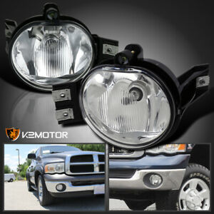 02 08 Dodge Ram 1500 2500 3500 Pickup Clear Bumper Driving Fog Lights Kit