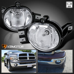 2002 2008 Dodge Ram 1500 2500 Clear Lens Bumper Driving Fog Lights Switch