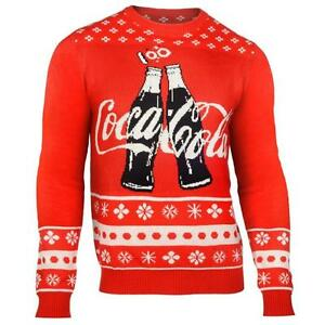 Coca Cola Coke WORDMARK Warm Winter Stylish Crew Neck Sweater - 2 Bottles