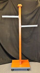 Wooden Clothing Display Rack 2 Straight Arms Nice Look Used