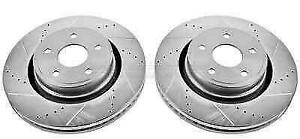 Power Stop Ar8765xpr Drilled Slotted Front Rotor Set For 04 06 Ram 1500 Srt 10