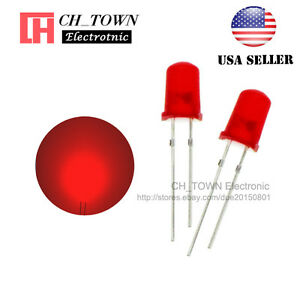 100pcs 5mm Diffused Self Red red Light Blink Blinking Flash Led Diodes Lamp Usa