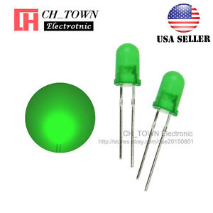 100pcs 5mm Diffused Self Green green Light Blink Blinking Flash Led Diodes Usa