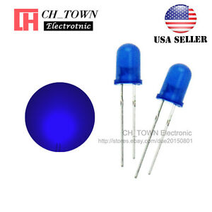 100pcs 5mm Diffused Self Blue blue Light Blink Blinking Flash Led Diodes Usa