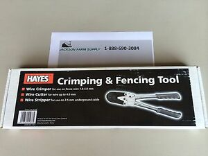 Hayes Crimping Tool 2 Slot With Cutter