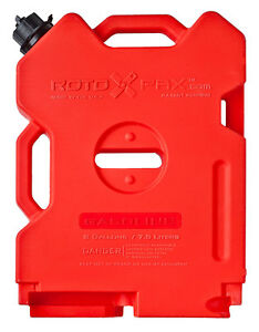 Rotopax 2 Gallon Fuel Pack Gas Jerry Can Spare Fuel Container Off Road Fits Jeep
