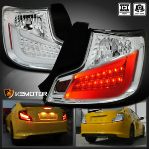For 2011 2013 Scion Tc Clear Brake Led Tail Lights Lamps drl Strip Left right