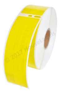24 Rolls Of 350 Yellow Address Labels For Dymo Labelwriters 30252