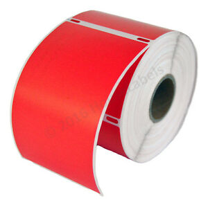 50 Rolls Of 300 Red Shipping Labels For Dymo Labelwriters 30256