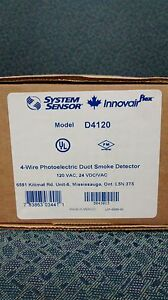 4 wire Photoelectric Duct Smoke Detector System Sensor d4120