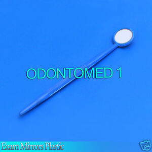 50 Mouth Exam Mirrors Plastic Dental Veterinary Instruments