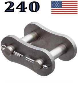 240 Roller Chain Connecting Master Link Same Day Priority Shipping