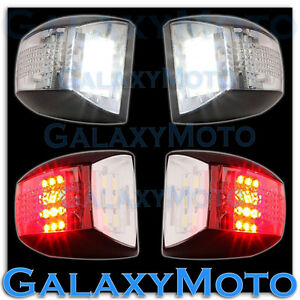 01 13 Chevy Silverado White Led License Plate red Led Rear Facing Running Lights