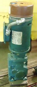 Reliance Electric 3 4 Hp Motor P56x6201p W Gear Reducer And Disc Brake