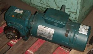 Reliance Electric 3 4 Hp Motor 1725 Hp P56x6201p W Gear Reducer And Disc Brake