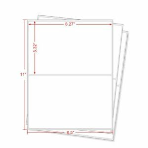 1000 Round Corner Shipping Labels Easy Peel Half Sheet 8 5x5 5 For Usps Paypal