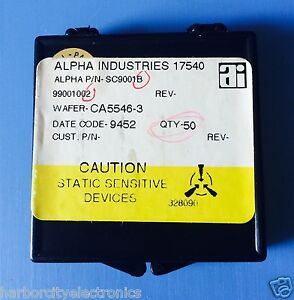 Sc9001b Alpha Industries Capacitor Chip Rf Microwave Product 50 units Total